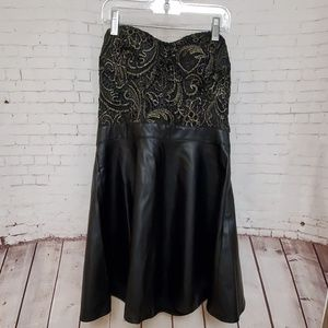 Forever 21 faux leather strapless dress #507